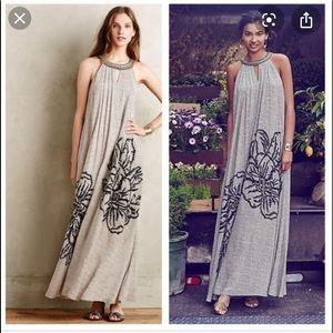 Anthropologie Ranna Gill Grandiflora Maxi Dress